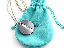 Auth Tiffany & Co Titanium Silver Necklace
