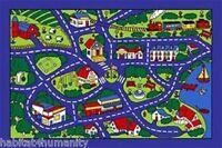 ~5 x 7 Street Map Blue Children's Area Rug Bedroom Play Mat Non Slip FREE SHIP!