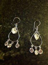 New. Earrings. Silver 925. Cubic zirconia. Drop earrings. Silver Earrings.