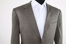 Canali Brown Orange Herringbone Wool Cashmere Sport Coat Jacket 54R Italy Tweed