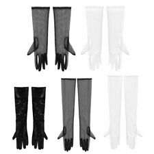 Lace/Tulle Glossy Long Gloves Opera Wedding Bridal Evening Party Costume Mittens
