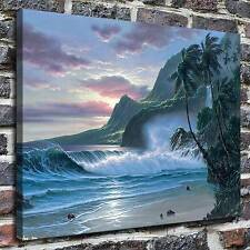 Noelito coastal cliffs Paintings HD Print on Canvas Home Decor Wall Art Pictures