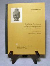 Elite-Mass Relationships via a Study of Rajasthan India Legislators/1972 Un. PB
