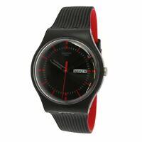 Swatch Men's Originals SUOB714 Black Silicone Swiss Quartz Fashion Watch