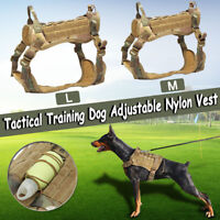 Large Dog Tactical Training Vest Harness Military K9 Water Resistant Harness M L