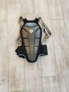 EUC Rev'IT Black and Grey Back Protector Straps Slightly Stretched Sz M