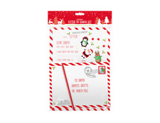 Christmas Letter To Santa Pack, 2 x A4 Letter Templates,Envelope, a Pencil