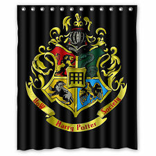 Custom Harry Potter Hogwarts Fabric Durable Waterproof Shower Curtain 60'' x 72'