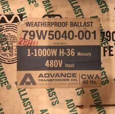NEW Advance 79W5040-001 Outdoor Weatherproof Ballast for 1000W H36 Lamp, 480V