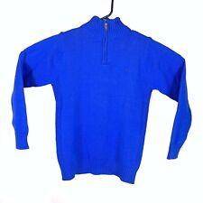 NWT Boys Calvin Klein Sweater Blue Size Medium 10-12 CK Logo 1/4 Zip