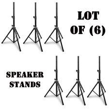 Lot of (6) New Pyle PSTND1 Height Adjustable Tripod Speaker Stand Holder Mounts