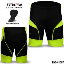 Mens Quality Cycle Cycling Shorts Bicycle Coolmax® Anti-Bac Padding Skin Tight