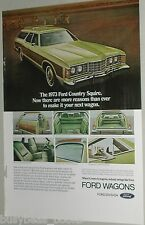 1973 Ford ad, Ford Country Squire station wagon, Woody!