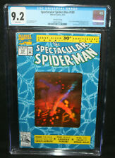Spectacular Spider-Man #189 - 2nd Print - Gold Hologram Cover - CGC 9.2 - 1992
