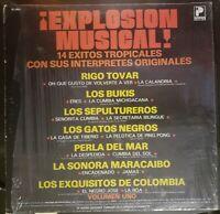 VARIOS: Explosion Musical! 14 EXITOS TROPICALES Vinyl Record LP: Bukis, R. Tovar
