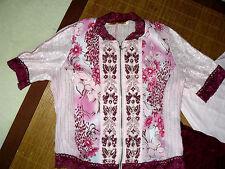 Mehrfarbige Hüftlang Damenblusen,-Tops & -Shirts mit Baumwollmischung für Freizeit