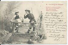 CPA - Bergeret  - Le Droit de Passage - 2