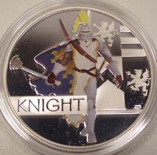 "2010 AUSTRALIA GREAT WARRIORS ""KNIGHT"" $1 SILVER PROOF COIN BOX/COA"