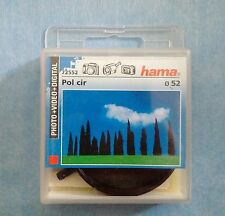 HAMA Filtre Photo video Circular Polarizer Polarisant Circulaire 52 mm