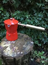 SPECIAL EDITION RED - BUSHCRAFT WOOD GAS STOVE OPEN FIRE COFFEE POT