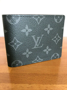 Authentic Louis Vuitton Slender Wallet M62294 Monogram Eclipse