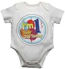 bebé Camisetas Bodis Crecimiento - Im One Años Today - para ambos De niño y niña