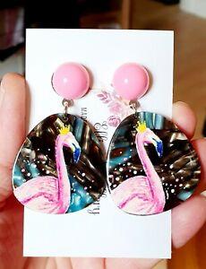Pretty Pink Flamingo Earrings