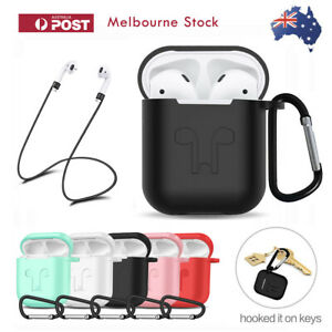 For Apple Airpods Case Cover Skin Anti Lost Strap Anti Scratch Shockproof Holder