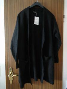 Kuschelige Strickjacke , schwarz , Gr. XL