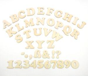 Buchstaben & Zahlen aus Holz 50mm zum kreativen Gestalten freie Auswahl