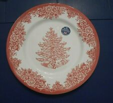Royal Stafford CHRISTMAS TREE RED Dinner Plate, New