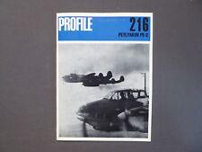 Luftfahrt Broschur Profile 216, Petlyakov PE-2 and variants, 1971, englisch