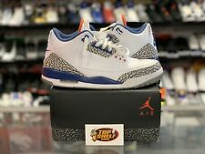 Air Jordan III 3 Retro Authentic size 11 True Blue 2016 VTG vintage VNDS NBA