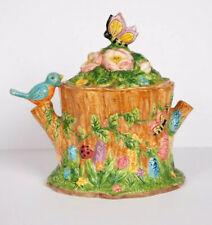 New listing Vintage Bico Bluebird, Butterfly, Flower Cookie Jar RARE!