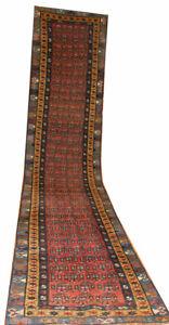 Oriental Carpets attractive Caucasian wool Runner rug in Parsley red 13' x 2.9'