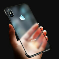 For iPhone 6S 7 8 Plus XS Max Ultra Thin Frameless Case  Transparent Matte Cover