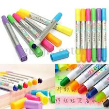 6Pcs Colors Highlighter Fluorescent Gel Solid Paint Pen Drawing Graffiti Marker