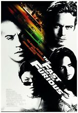 """The Fast And The Furious Movie Poster Full Color Print - Wall Art - 24x36"""""""