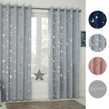 Dreamscene Star Thermal Blackout Curtains Fully Lined Eyelet Ring Top Room