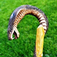 COBRA Hand Carvin Canes Walking Sticks Wooden Unique Handmade Cane Vintage Gift