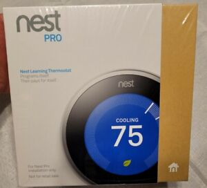 Nest Pro Edition 3rd Generation Programmable Thermostat T3008US - Stainless NIB