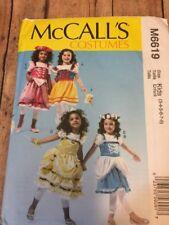 M6619 New Uncut Child Princess Costumes Size 3 4 5 6 7 8