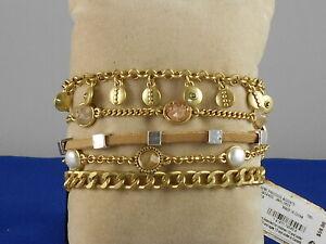 UK Ladies Designer Silver Gold Multi Star Magnetic Strand Bracelet Jewellery