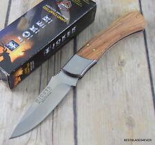 JOKER KNIVES MADE IN SPAIN LOCK-BACK FOLDING KNIFE OLIVE WOOD HANDLE