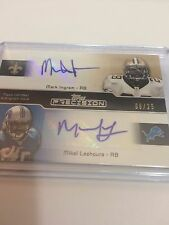2011 Topps Precision Mark Ingram Mikel Leshoure Dual Rookie Autograph 6/25