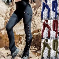 Retro Women Medieval Renaissance Pants Halloween Gothic Punk Trousers Costume