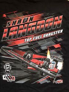 "NHRA DRAG RACING ""TOP FUEL DRIVER"" SHAWN LANGDON T- SHIRT  SIZE 3X"