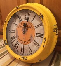 "OLD TOWN Repairs and Restorations 15"" WALL CLOCK Standard Time Est. 1863 Clock"
