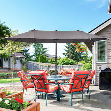 More details for outsunny 4.6m double-sided patio umbrella parasol sun shelter canopy shade