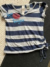 Girls 2 T Guess Tee Striped Gray Navy